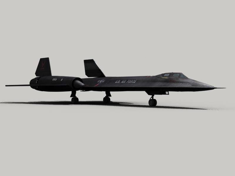 sr-71 blackbird 3d загвар 3ds max fbx obj 203586