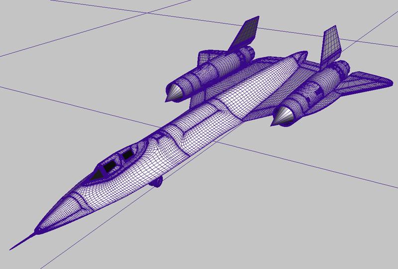 sr-71 blackbird 3d загвар 3ds max fbx obj 203589
