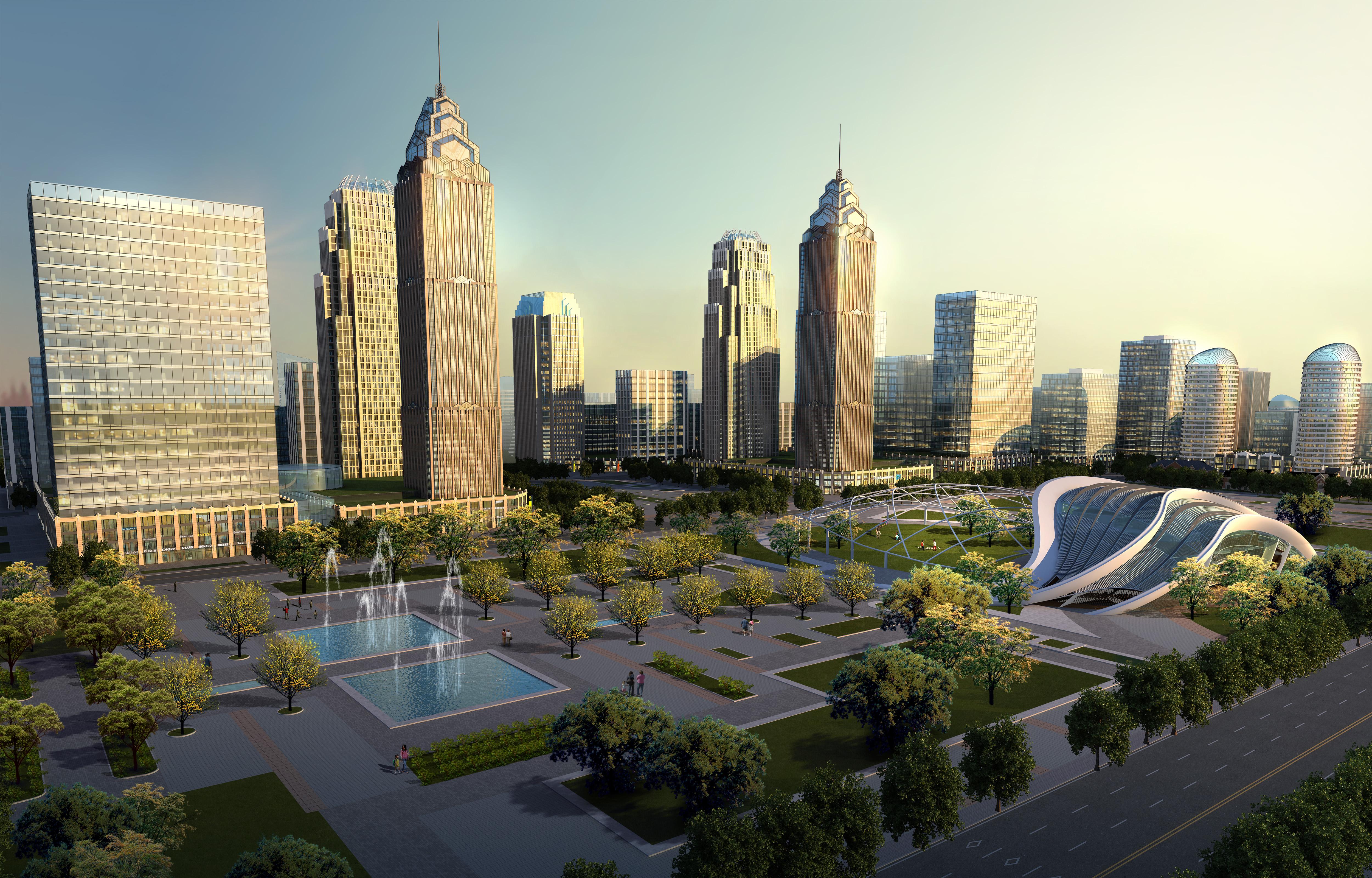 city planning 007 3d model max texture 203772