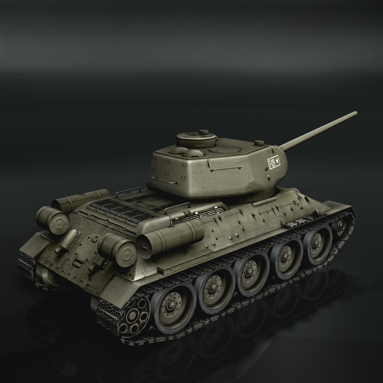 tank t34-85 3d model 3ds max fbx other 203837