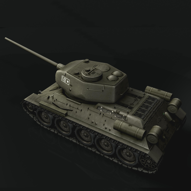 tank t34-85 3d model 3ds max fbx other 203838