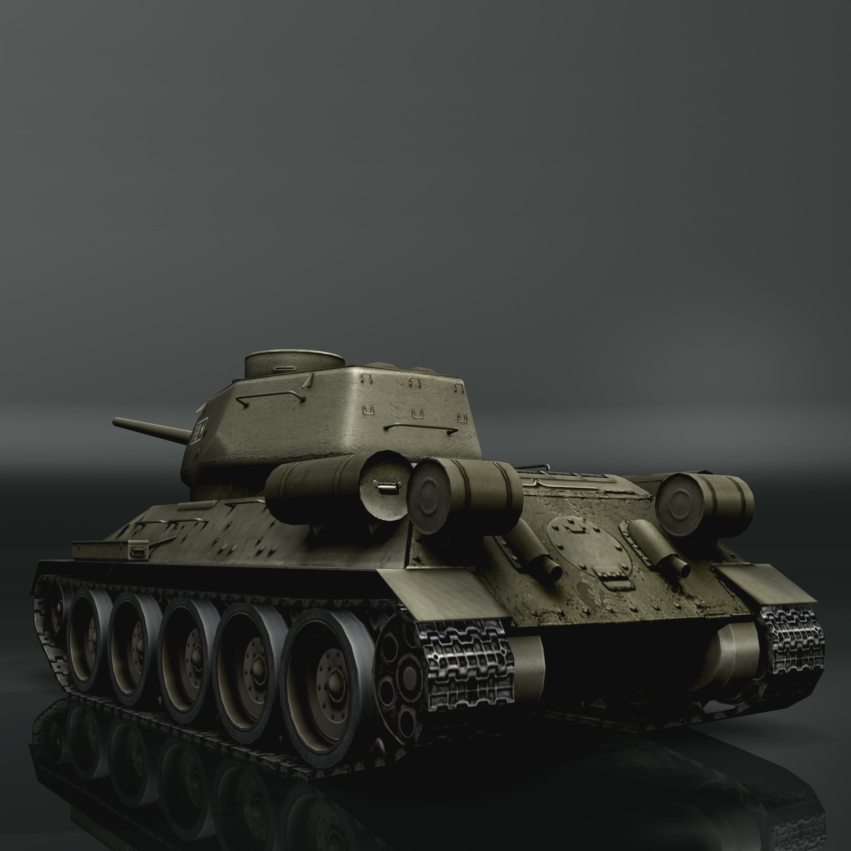 tank t34-85 3d model 3ds max fbx other 203839