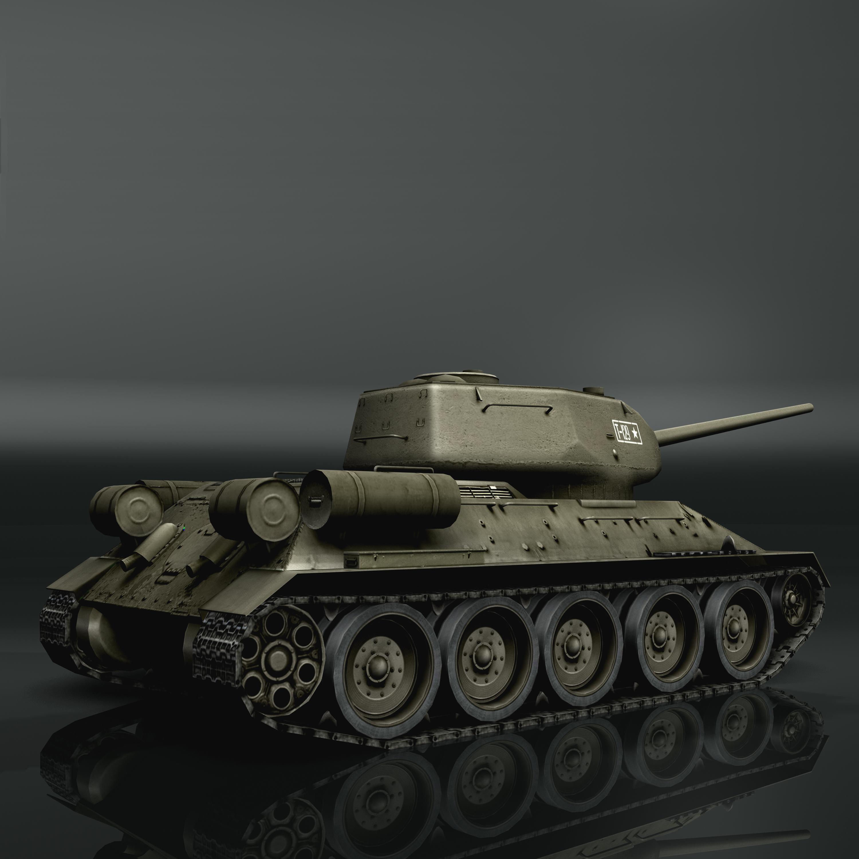tank t34-85 3d model 3ds max fbx other 203840