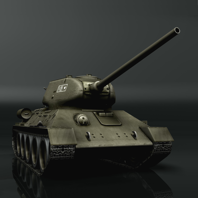 tank t34-85 3d model 3ds max fbx other 203843