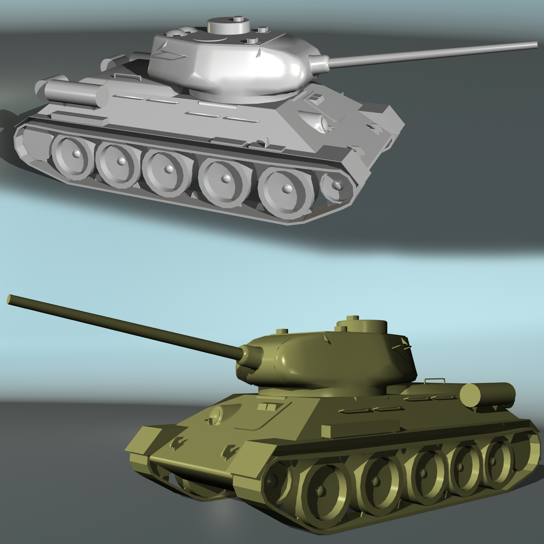 tank t34-85 3d model 3ds max fbx other 203847