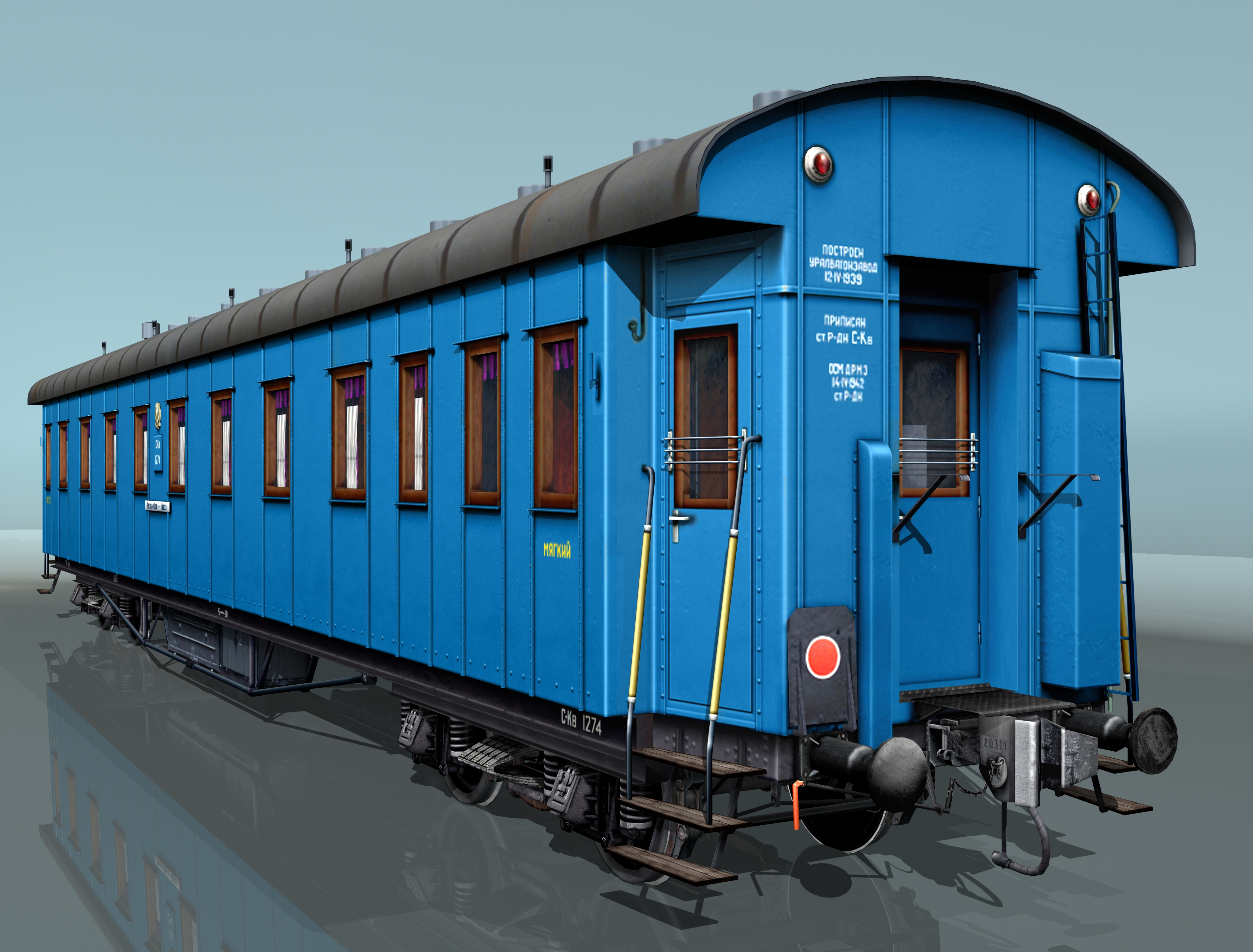 pasažieru dzelzceļa auto 3d modelis 3ds max fbx 203854