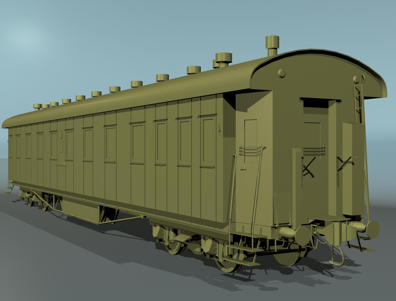 pasažieru dzelzceļa auto 3d modelis 3ds max fbx 203860