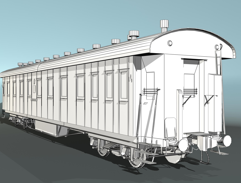 pasažieru dzelzceļa auto 3d modelis 3ds max fbx 203861
