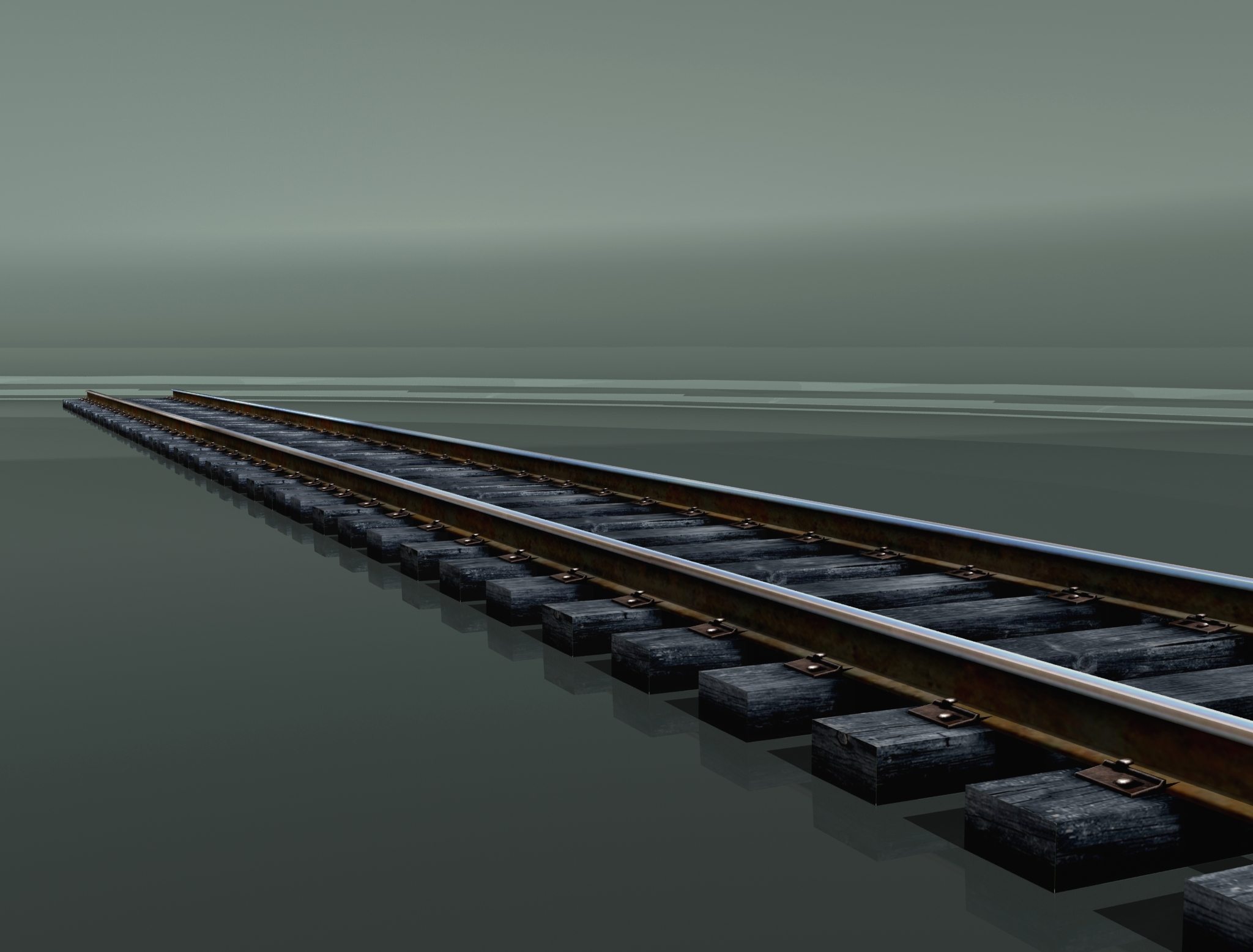 rail track 1524mm. 3d model 3ds max 203865