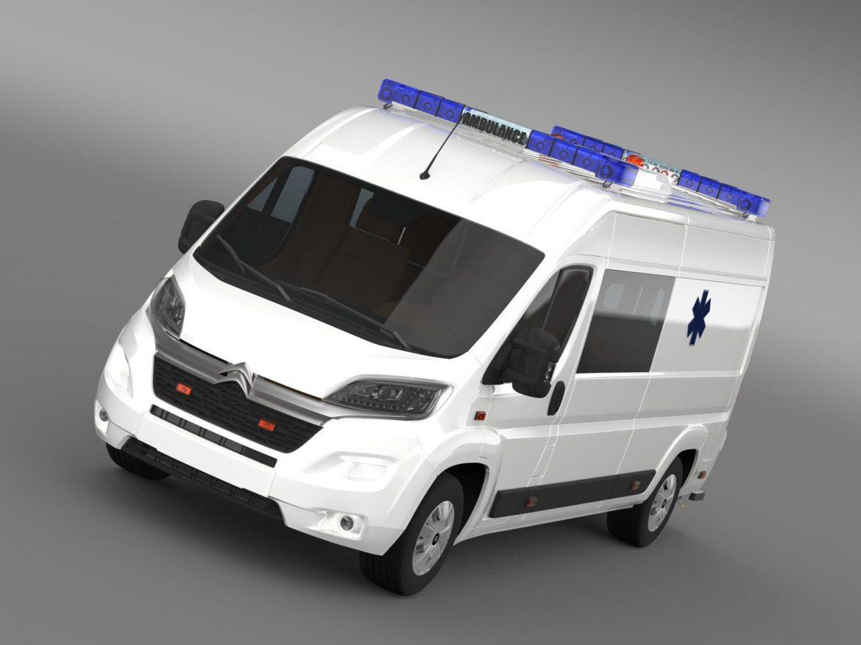 citroen jumper ambulance 2015 3d model 3ds max fbx c4d lwo ma mb hrc xsi obj 203871