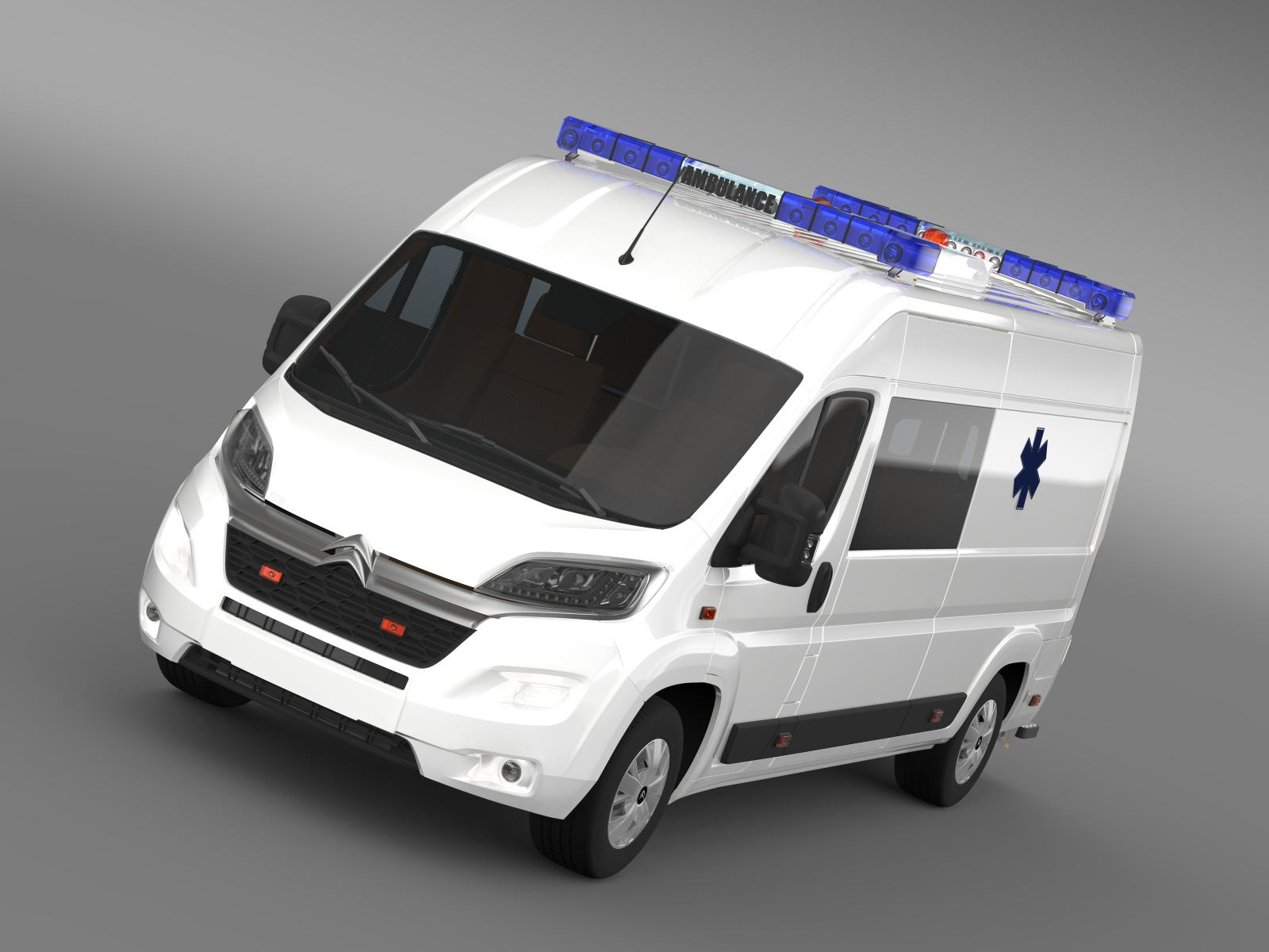 citroen jumper ambulance 2015 3d model 3ds max fbx c4d lwo ma mb hrc xsi obj 203871