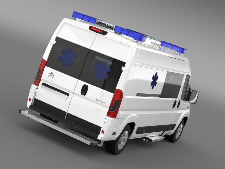 citroen jumper ambulance 2015 3d model 3ds max fbx c4d lwo ma mb hrc xsi obj 203872