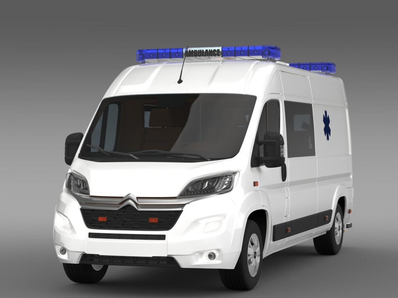 citroen jumper ambulance 2015 3d model 3ds max fbx c4d lwo ma mb hrc xsi obj 203873