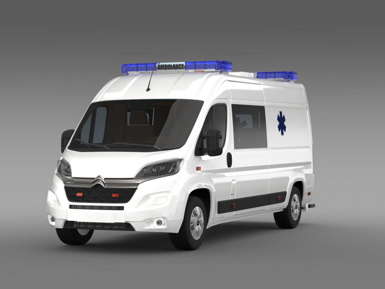 citroen jumper ambulance 2015 3d model 3ds max fbx c4d lwo ma mb hrc xsi obj 203874