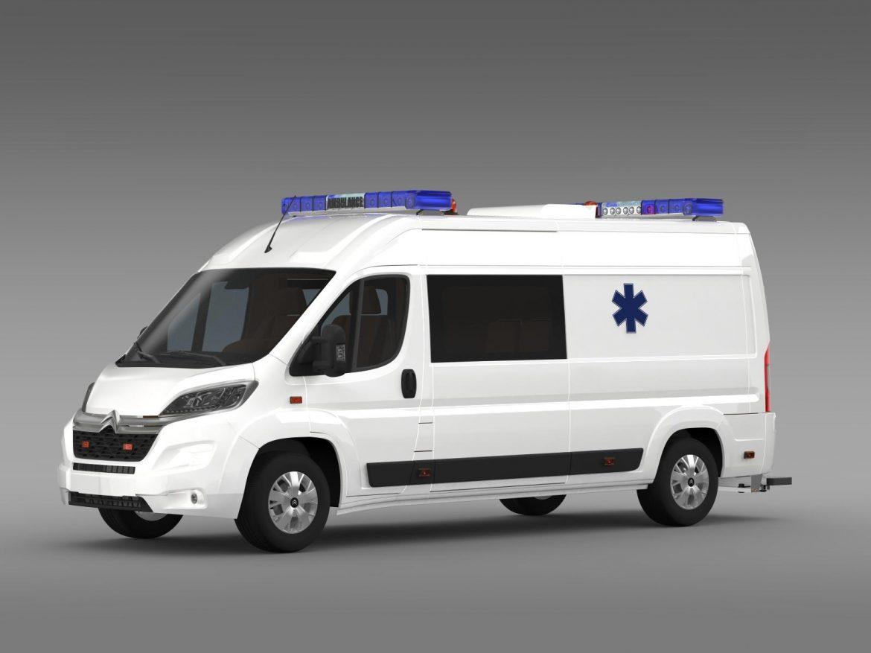 citroen jumper ambulance 2015 3d model 3ds max fbx c4d lwo ma mb hrc xsi obj 203875