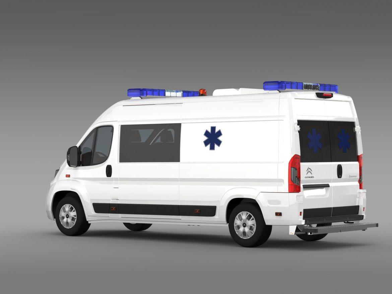 citroen jumper ambulance 2015 3d model 3ds max fbx c4d lwo ma mb hrc xsi obj 203877