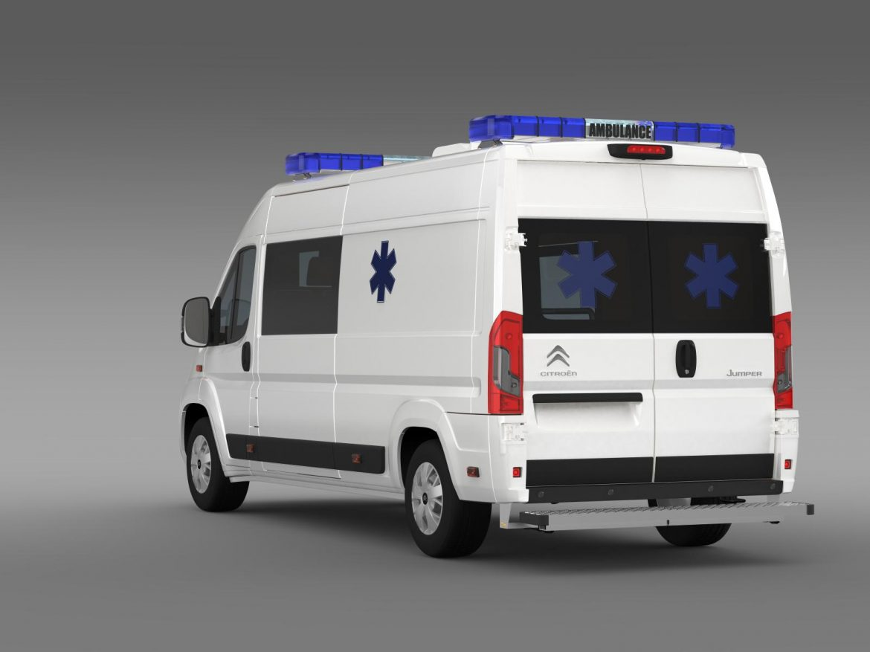 citroen jumper ambulance 2015 3d model 3ds max fbx c4d lwo ma mb hrc xsi obj 203878