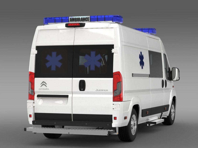 citroen jumper ambulance 2015 3d model 3ds max fbx c4d lwo ma mb hrc xsi obj 203879