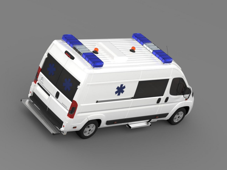 citroen jumper ambulance 2015 3d model 3ds max fbx c4d lwo ma mb hrc xsi obj 203880
