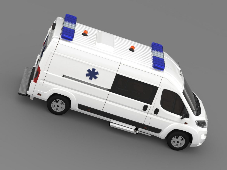 citroen jumper ambulance 2015 3d model 3ds max fbx c4d lwo ma mb hrc xsi obj 203881