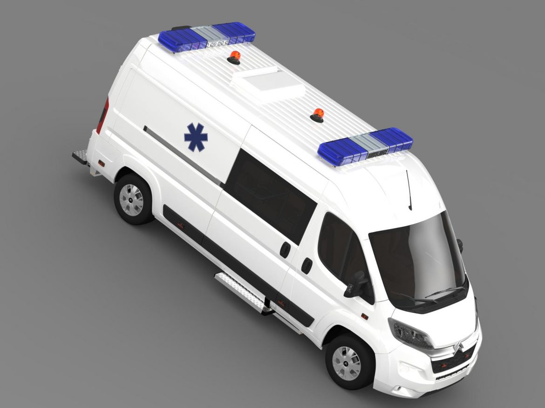 citroen jumper ambulance 2015 3d model 3ds max fbx c4d lwo ma mb hrc xsi obj 203882