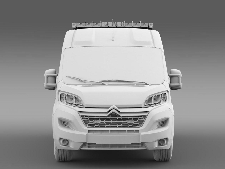 citroen jumper ambulance 2015 3d model 3ds max fbx c4d lwo ma mb hrc xsi obj 203883