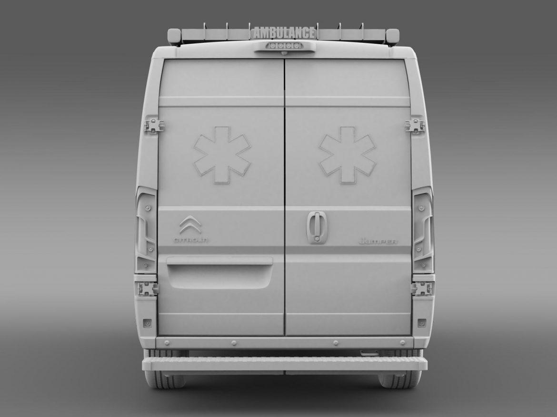 citroen jumper ambulance 2015 3d model 3ds max fbx c4d lwo ma mb hrc xsi obj 203884
