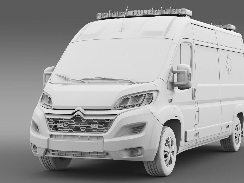 citroen jumper ambulance 2015 3d model 3ds max fbx c4d lwo ma mb hrc xsi obj 203885