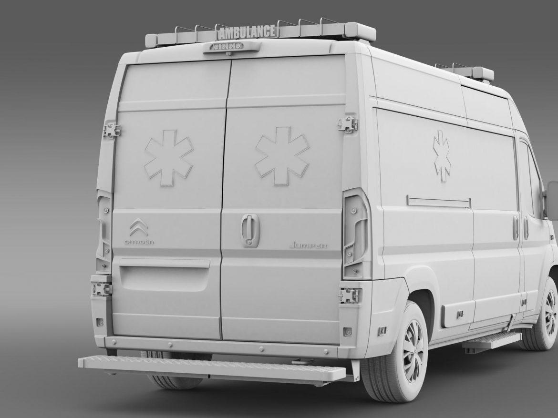 citroen jumper ambulance 2015 3d model 3ds max fbx c4d lwo ma mb hrc xsi obj 203886
