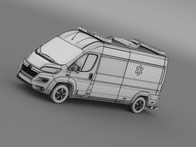 citroen jumper ambulance 2015 3d model 3ds max fbx c4d lwo ma mb hrc xsi obj 203887