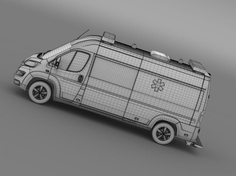 citroen jumper ambulance 2015 3d model 3ds max fbx c4d lwo ma mb hrc xsi obj 203888