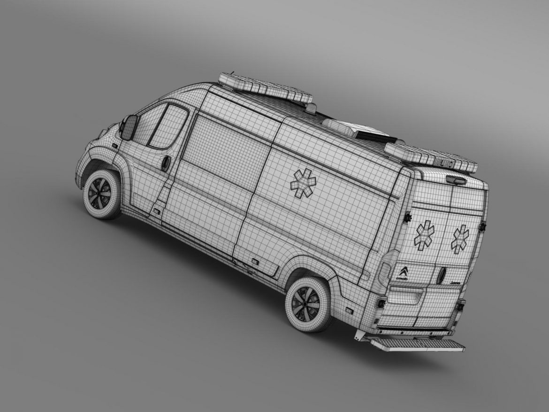 citroen jumper ambulance 2015 3d model 3ds max fbx c4d lwo ma mb hrc xsi obj 203889