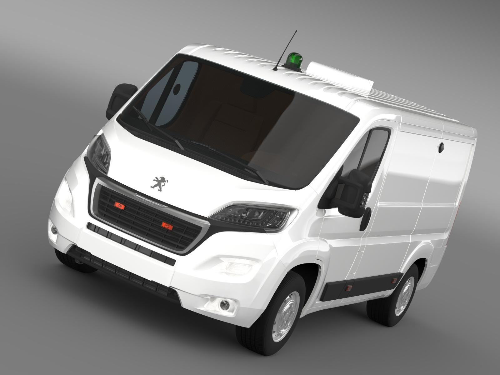 peugeot boxer collection services 2015 3d model 3ds max fbx c4d lwo ma mb hrc xsi obj 203891