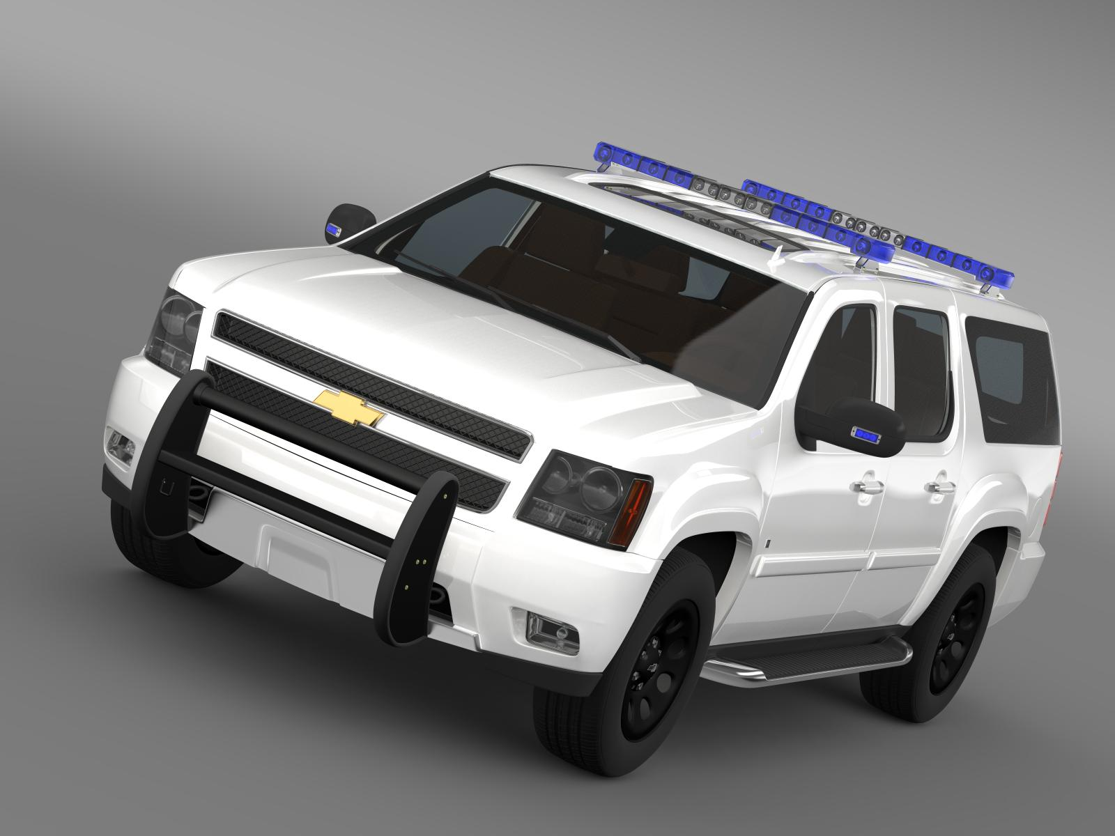 chevrolet suburban z71 police 3d model 3ds max fbx c4d lwo ma mb hrc xsi obj 203909