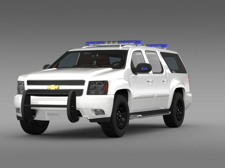 chevrolet suburban z71 police 3d model 3ds max fbx c4d lwo ma mb hrc xsi obj 203911