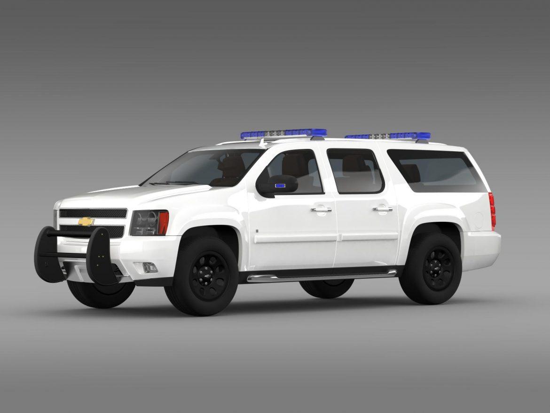 chevrolet suburban z71 police 3d model 3ds max fbx c4d lwo ma mb hrc xsi obj 203912