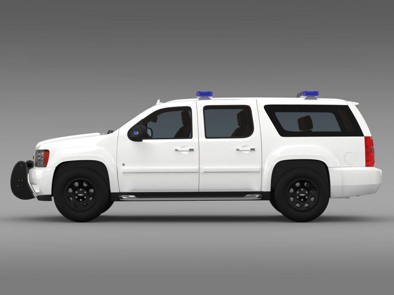 chevrolet suburban z71 police 3d model 3ds max fbx c4d lwo ma mb hrc xsi obj 203913