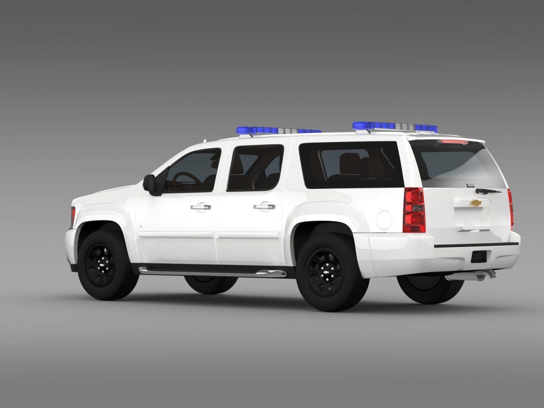 chevrolet suburban z71 police 3d model 3ds max fbx c4d lwo ma mb hrc xsi obj 203914