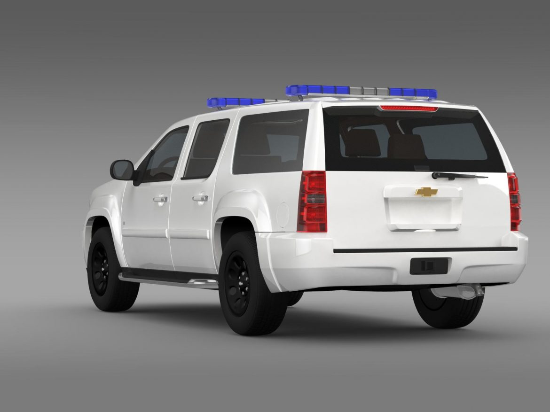 chevrolet suburban z71 police 3d model 3ds max fbx c4d lwo ma mb hrc xsi obj 203915