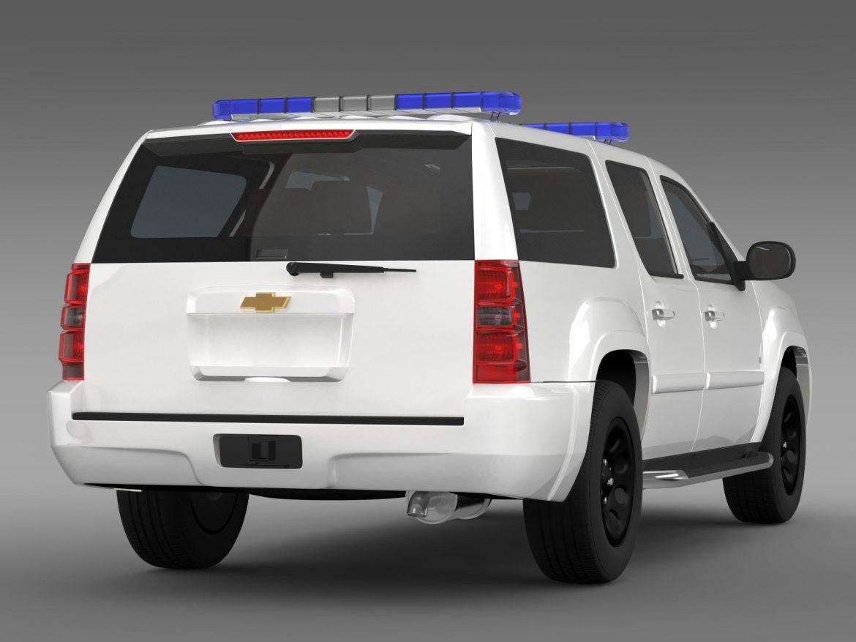 chevrolet suburban z71 police 3d model 3ds max fbx c4d lwo ma mb hrc xsi obj 203916