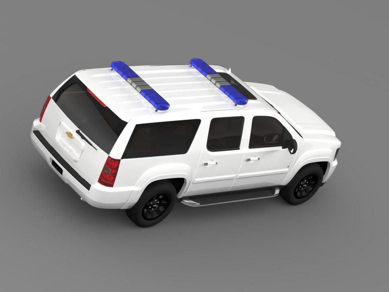 chevrolet suburban z71 police 3d model 3ds max fbx c4d lwo ma mb hrc xsi obj 203917