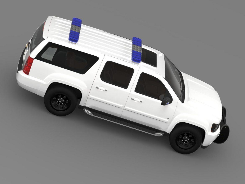 chevrolet suburban z71 police 3d model 3ds max fbx c4d lwo ma mb hrc xsi obj 203918