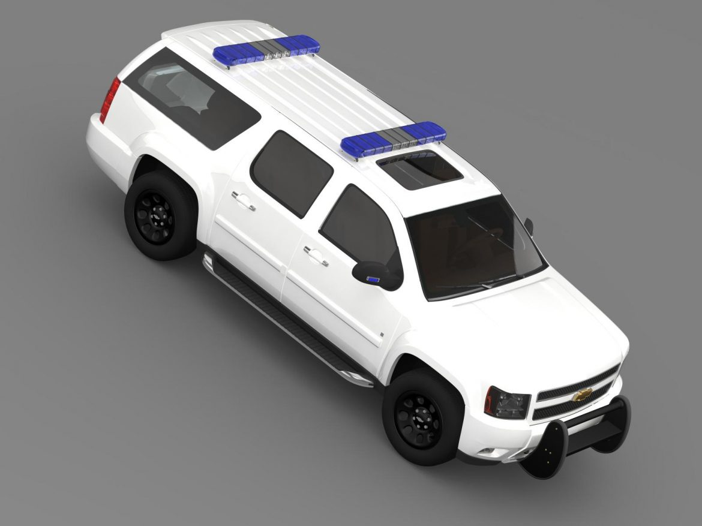 chevrolet suburban z71 police 3d model 3ds max fbx c4d lwo ma mb hrc xsi obj 203919