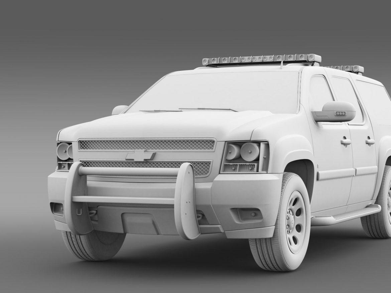 chevrolet suburban z71 police 3d model 3ds max fbx c4d lwo ma mb hrc xsi obj 203922