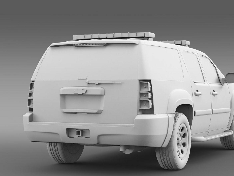 chevrolet suburban z71 police 3d model 3ds max fbx c4d lwo ma mb hrc xsi obj 203923