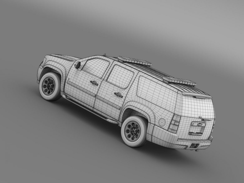 chevrolet suburban z71 police 3d model 3ds max fbx c4d lwo ma mb hrc xsi obj 203926