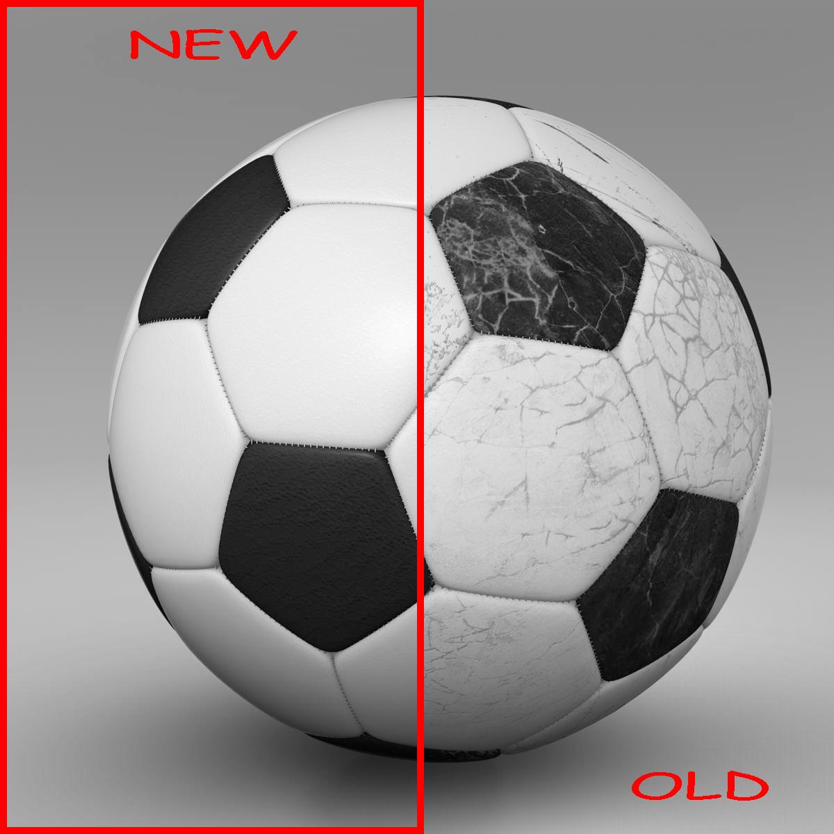 soccerball svartur hvítur 3d líkan 3ds max fbx c4d ma mb obj 203948