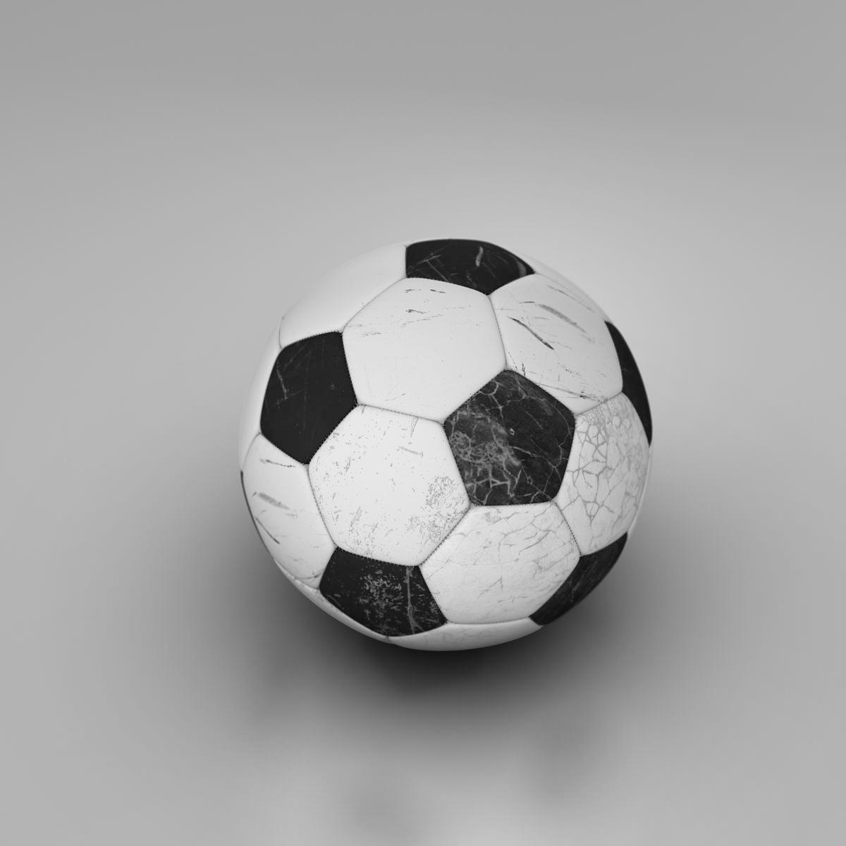 soccerball black white 3d model 3ds max fbx c4d ma mb obj 203950