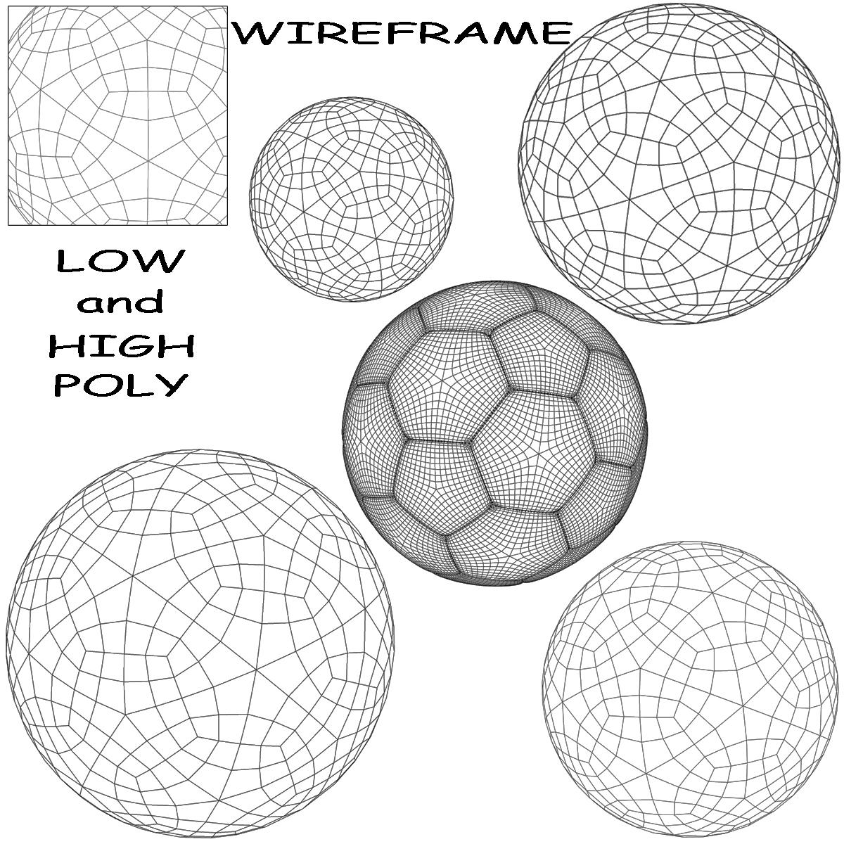 soccerball black white 3d model 3ds max fbx c4d ma mb obj 203952