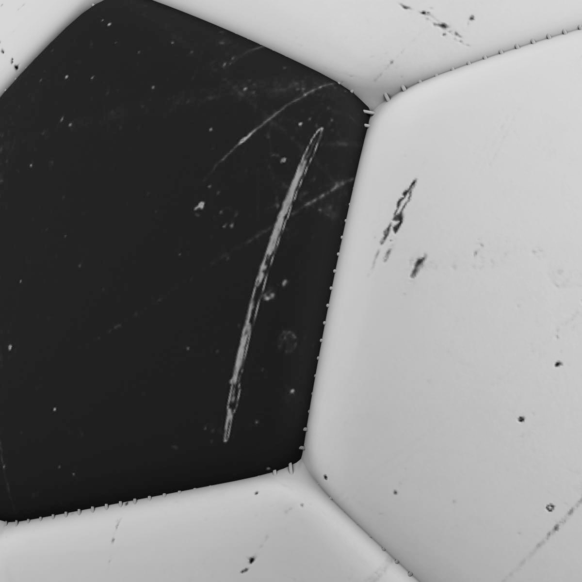 soccerball black white 3d model 3ds max fbx c4d ma mb obj 203953